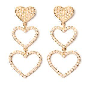 Majestic Heart Linear Earrings